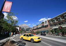 Banff Taxi Stock Image