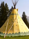 Banff Tepee. Tepee in Banff National Park, Alberta, Canada stock photography