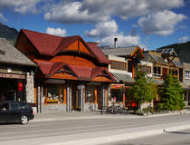 Banff Town, Alberta Royalty Free Stock Photos