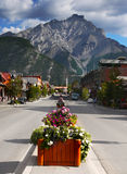 Banff Town , Alberta, Canada Royalty Free Stock Photos