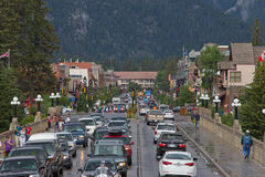 Banff Town Center Royalty Free Stock Photo