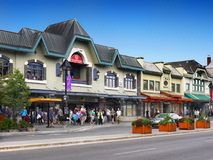 Banff Town Centre, Alberta Canada Royalty Free Stock Photography