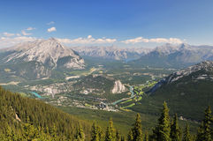 Banff town and surroundings Stock Photo
