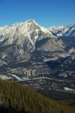 Banff Town view Stock Photos