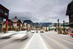 Banff Townsite Stock Photo