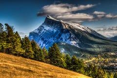 Banff Townsite Royalty-vrije Stock Foto