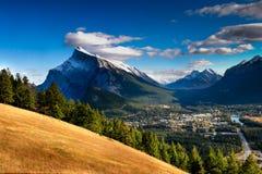 Banff Townsite Royalty-vrije Stock Afbeelding