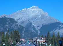 Banff Townsite Stockfotos