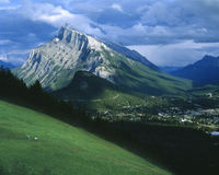 Banff Townsite Alberta Canada Stock Photo