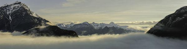 Banff Under Wraps - Panoramic Stock Images