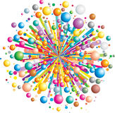Bang. Colorful funny explosion- (vector available Royalty Free Stock Photos