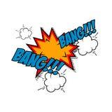 Bang-bang!!! Comic style phrase Royalty Free Stock Photography