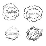 Bang blast flash comics blow  on white vector. Illustration Royalty Free Stock Photography