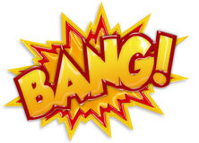 Bang cartoon. Comic book explosion isolated on white background Stock Photography