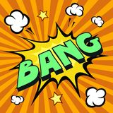 Bang cartoon comic explosion Royalty Free Stock Images