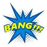 Bang, comic book explosion icon, pop art style Royalty Free Stock Images