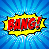 Bang! Comic Speech Bubble, Cartoon. Royalty Free Stock Photos
