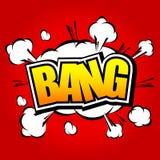 Bang! Comic Speech Bubble, Cartoon. Stock Photo
