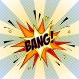 Bang. Comic Speech Bubble, Cartoon. Bang. Comic Speech Bubble. Cartoon Vector Illustration Royalty Free Stock Images