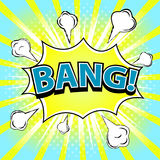 BANG! Comic speech bubble, cartoon. Vector illustration Royalty Free Stock Image