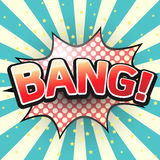 Bang, Comic Speech Bubble. Royalty Free Stock Images