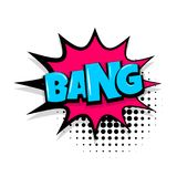 Bang comic text white background Royalty Free Stock Photo