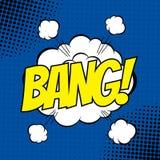 Bang comic. BANG. Vector poster comic strip style with halftone effect Royalty Free Stock Photos