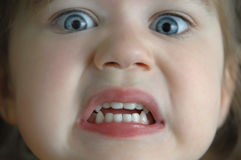 Bang en Angst aangejaagd Stock Foto