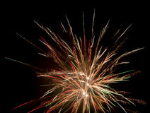 Bang fireworks on a black Stock Photography