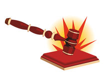 Bang of a gavel royalty free illustration