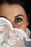 Bang gemaakte bruid Stock Fotografie