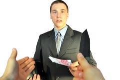 Bang gemaakte jonge zakenman Stock Afbeelding