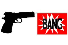 Bang gun. An illustration of a toy gun royalty free illustration