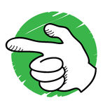 Bang hand. A cartoon hand gesturing - bang concept Royalty Free Stock Image
