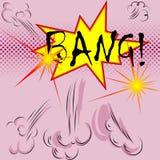 Bang. Huge explosions, dangerous explosions, big bang Stock Photo