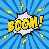 Bang! - Komisk anförandebubbla, tecknad film Arkivbild