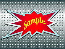 Bang label on the metal grid Stock Images