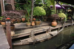 Bang Nam Peung Floating Market, Bangkok, Thailand Royalty Free Stock Photography