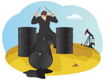 Bang oil barrels Stock Photos
