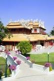 Bang Pa-In. The Royal Residence (Phra Thinang) of the Thai royal summer palace of Bang Pa-In near Ayutthaya and Bangkok royalty free stock images