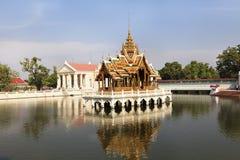 Bang Pa-In Aisawan Thipya-Art. (Divine Seat of Personal Freedom) at the Royal Summer Palace royal residence near Ayutthaya, Thailand Stock Photo