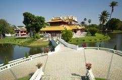 Bang Pa-In Palace 2. Aerial view of Phra Thinang Wehart Chamrun in Bang Pa-In royal summer residence Stock Photography
