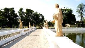 Bang Pa-In Palace. Landscape at Bang Pa-In Palace royalty free stock photos