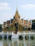 Bang Pa-In Palace. Aisawan Thipya-Art (Divine Seat of Personal Freedom) near Bangkok, Thailand Stock Images