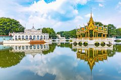 Bang Pa-in Palace is an ancient palace since the Ayutthaya period royalty free stock image