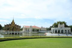 Bang pa in palace,Ayuthaya province,Thailand. Royalty Free Stock Photo