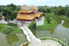 Bang pa in palace,Ayuthaya province,Thailand. Royalty Free Stock Image