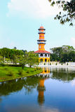 Bang Pa-In Palace in Ayutthaya Province, Thailand. Golden tower, Bang Pa-In Palace in Ayuthaya, Thailand Royalty Free Stock Image