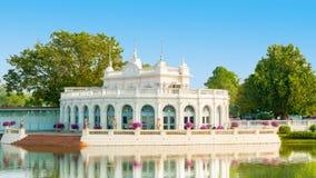 Summer royal palace of bang pa in ayutthaya thailand with sun Royalty Free Stock Image