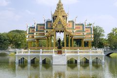 Bang Pa-In Palace (Summer Palace). Bang Pa-In Palace Aisawan Thiphya-Art (Divine Seat of Personal Freedom) near Bangkok, Thailand stock photos